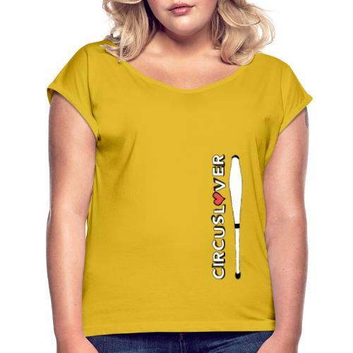 CIRCUSLOVER -JUGGLING CLUBS - CIRCUS JUGGLER - Maglietta da donna con risvolti