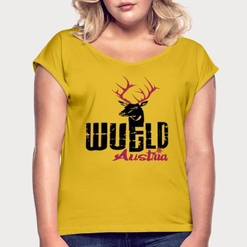 Wüld Austria - Frauen T-Shirt mit gerollten Ärmeln