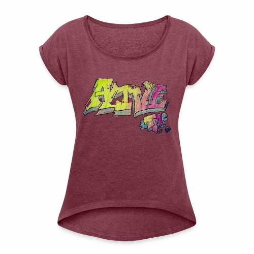 ALIVE TM Collab - Women's T-Shirt with rolled up sleeves
