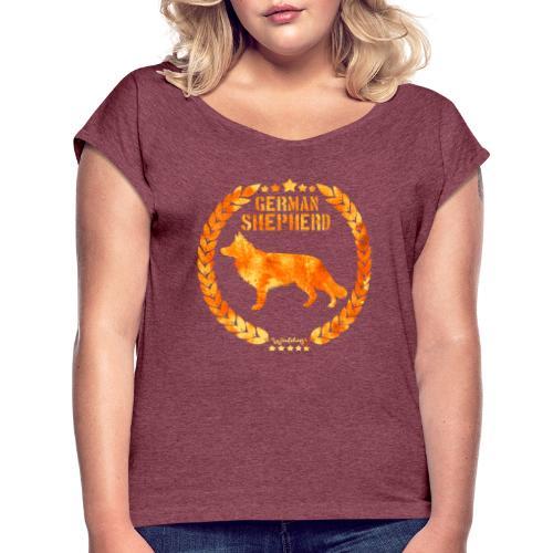 GSD Copper Army - Naisten T-paita, jossa rullatut hihat