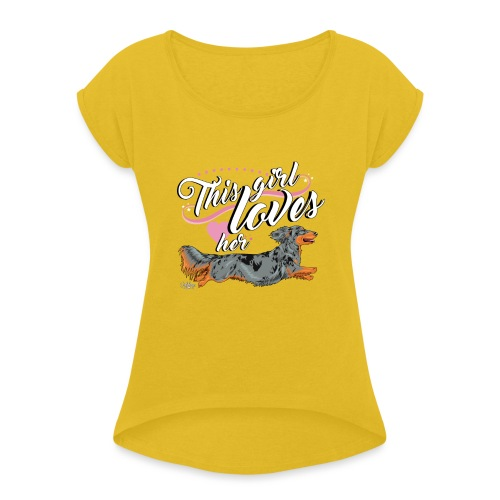 pitkisgirl - Women's T-Shirt with rolled up sleeves