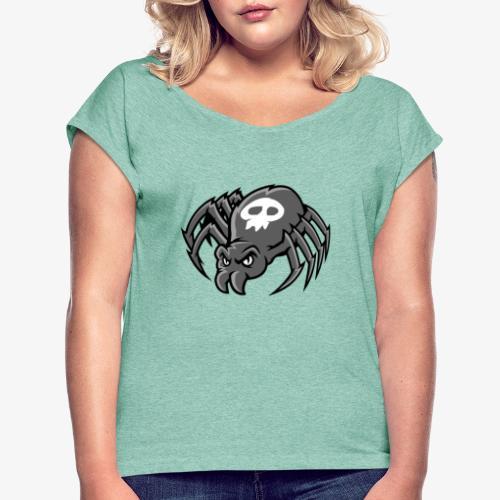 Angry Spider III - Naisten T-paita, jossa rullatut hihat