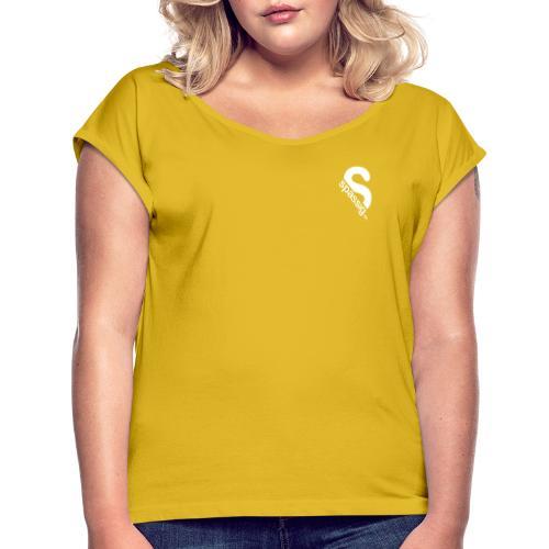 Ein Admin schläft nicht. Er root. - Frauen T-Shirt mit gerollten Ärmeln