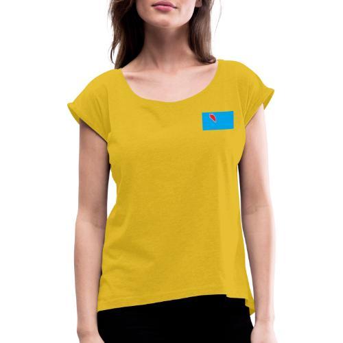 DropC - T-shirt med upprullade ärmar dam
