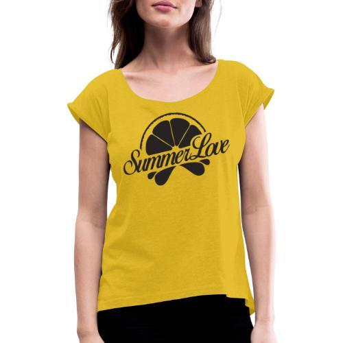 Logo Radio Summer Love - Vrouwen T-shirt met opgerolde mouwen