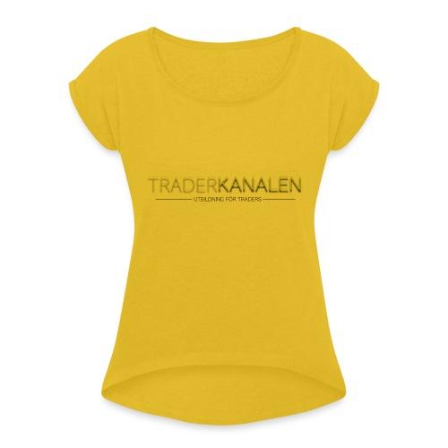 Traderkanalen BRAND - T-shirt med upprullade ärmar dam
