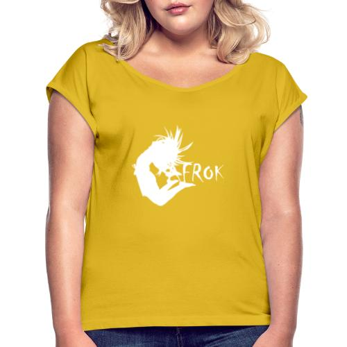 AFROK BRAND ® - Women's T-Shirt with rolled up sleeves