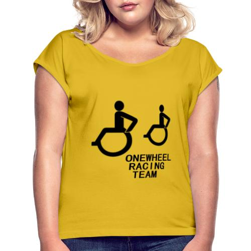 Wheelchair racing team - Frauen T-Shirt mit gerollten Ärmeln