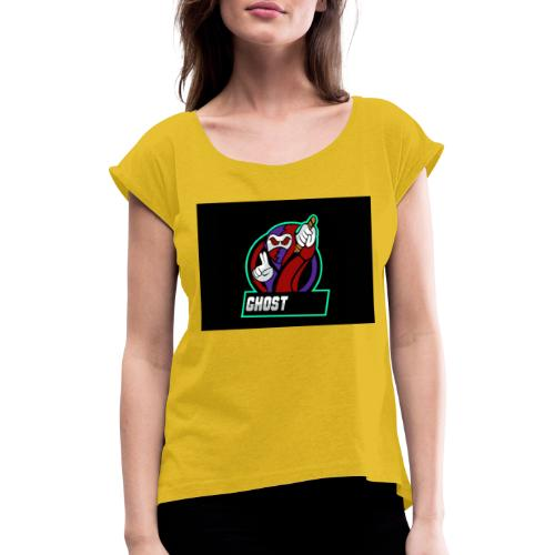 GHOST SAMURAI - T-shirt med upprullade ärmar dam