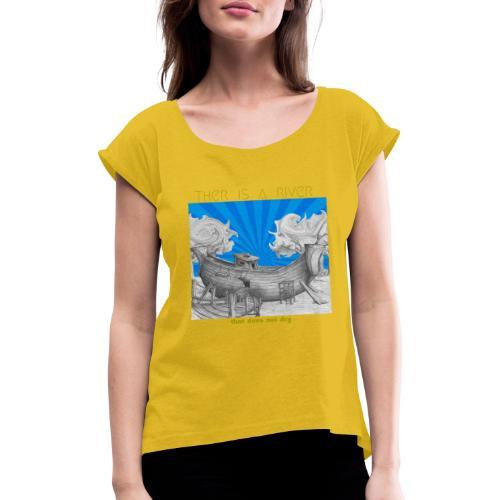 C15 - Camiseta con manga enrollada mujer