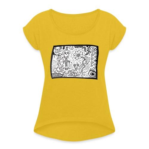 CrazyBunch - T-shirt à manches retroussées Femme