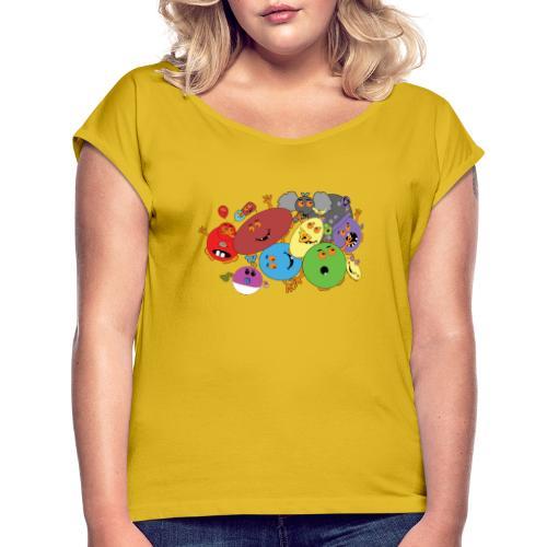 Blubbianerna! - T-shirt med upprullade ärmar dam