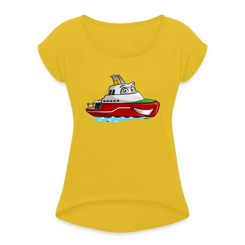 Boaty McBoatface - Women's T-Shirt with rolled up sleeves