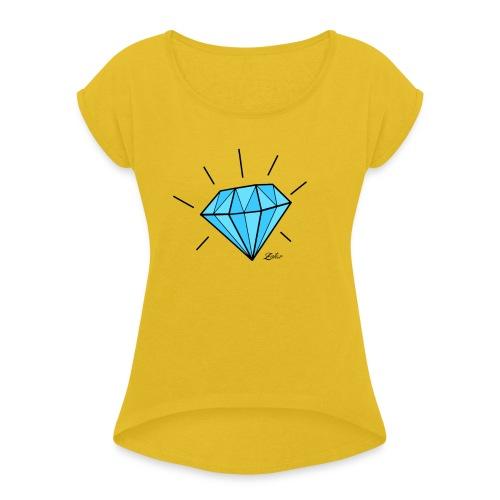 diamant-22466 - Maglietta da donna con risvolti