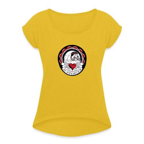supporter - Frauen T-Shirt mit gerollten Ärmeln