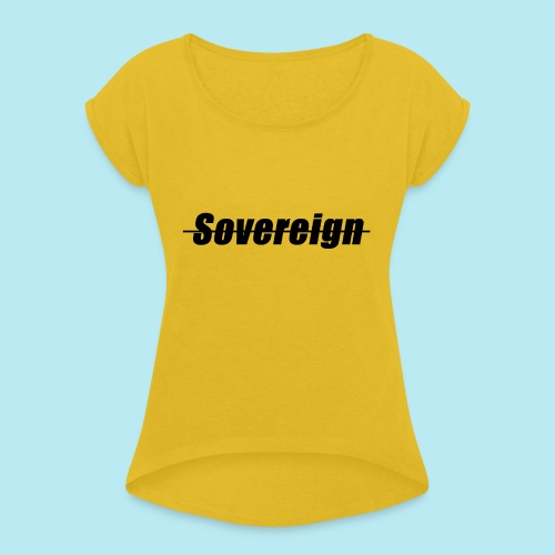 Sovereign Dash Black - Women's T-Shirt with rolled up sleeves