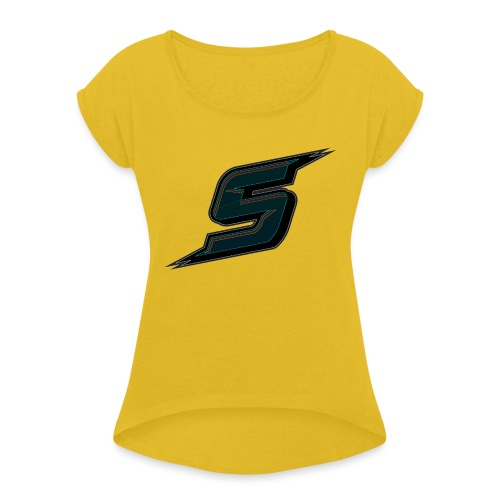 Stripo Logo - Women's T-Shirt with rolled up sleeves