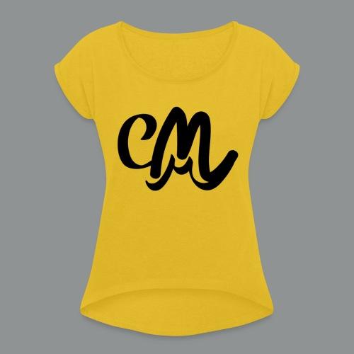 Button CM - Vrouwen T-shirt met opgerolde mouwen