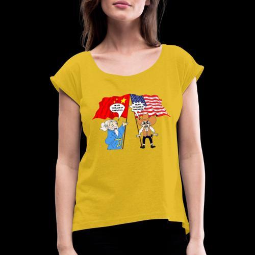 konfuzz - Frauen T-Shirt mit gerollten Ärmeln