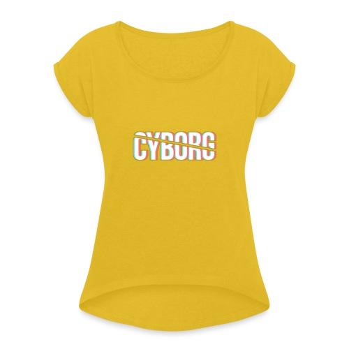 CYBORG_3D_BARRE - T-shirt à manches retroussées Femme