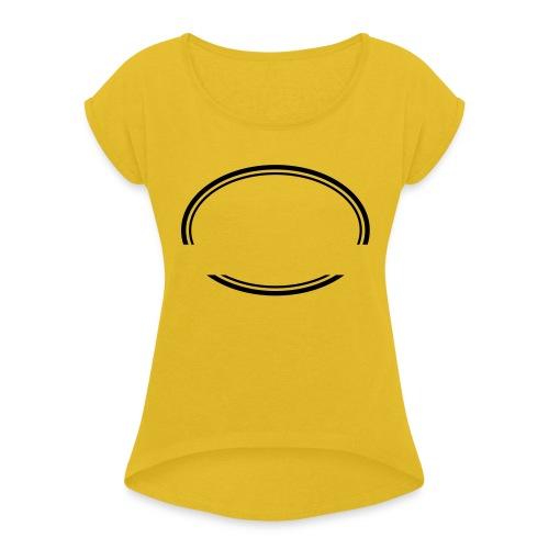 Kreis offen - Frauen T-Shirt mit gerollten Ärmeln