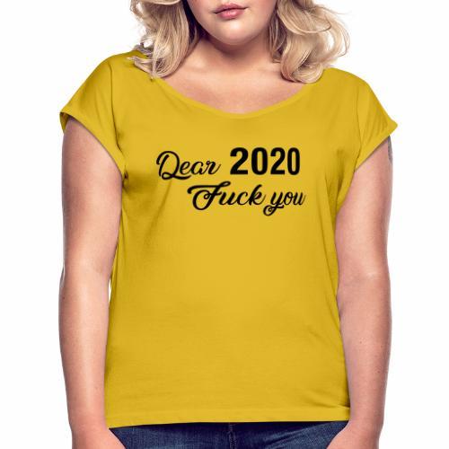 2020 - Frauen T-Shirt mit gerollten Ärmeln