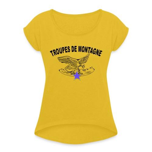 choucasTDM dos - T-shirt à manches retroussées Femme