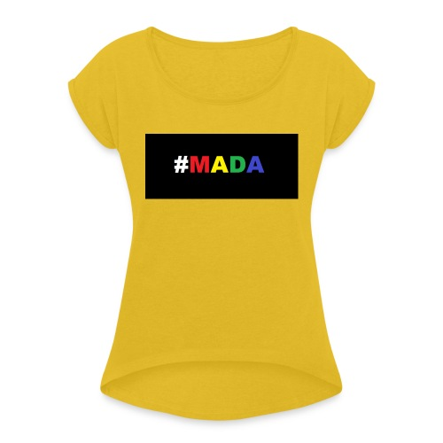 MADA - Frauen T-Shirt mit gerollten Ärmeln