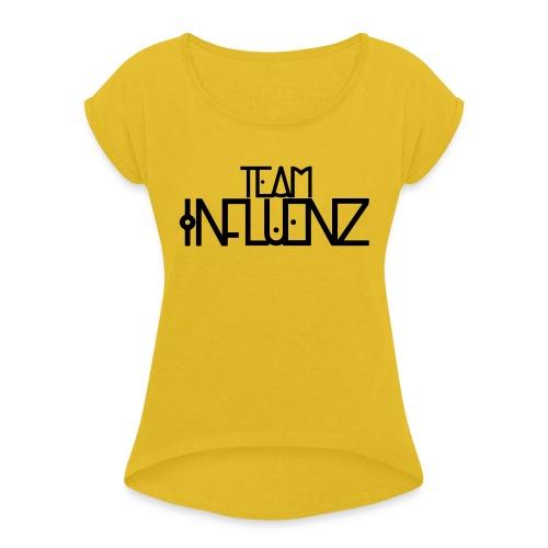 aasda svg - Vrouwen T-shirt met opgerolde mouwen