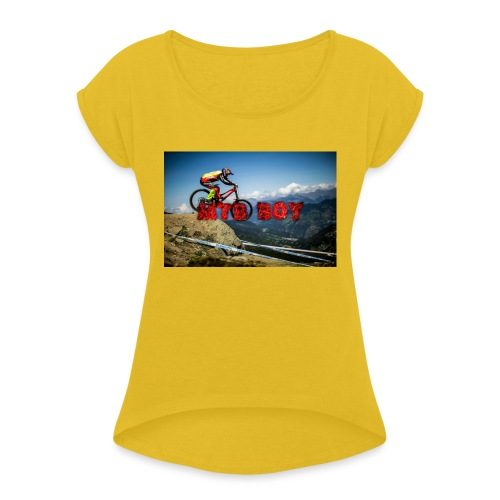 mtb boy clothes - Women's T-Shirt with rolled up sleeves