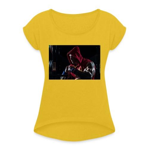 Strong Is Sexy - Frauen T-Shirt mit gerollten Ärmeln