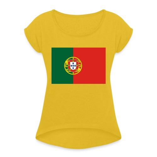 portugal - Frauen T-Shirt mit gerollten Ärmeln