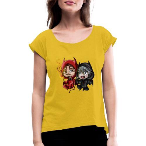 Chibis Halloween - T-shirt à manches retroussées Femme