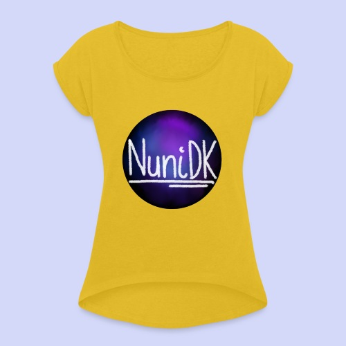 Galaxy shade, NuniDK collection - female top - Dame T-shirt med rulleærmer