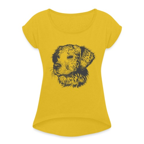 Rufus - Women's T-Shirt with rolled up sleeves