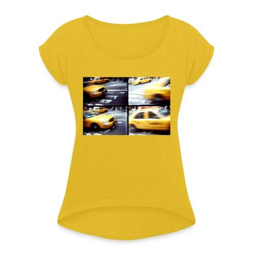 NCY cabs - Frauen T-Shirt mit gerollten Ärmeln