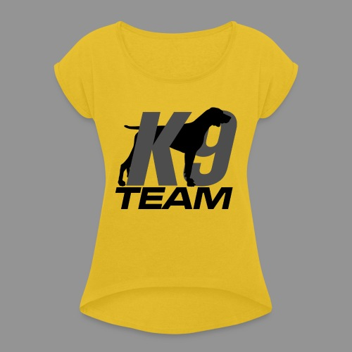 K-9 Team - German Shorthaired Pointer - Women's T-Shirt with rolled up sleeves