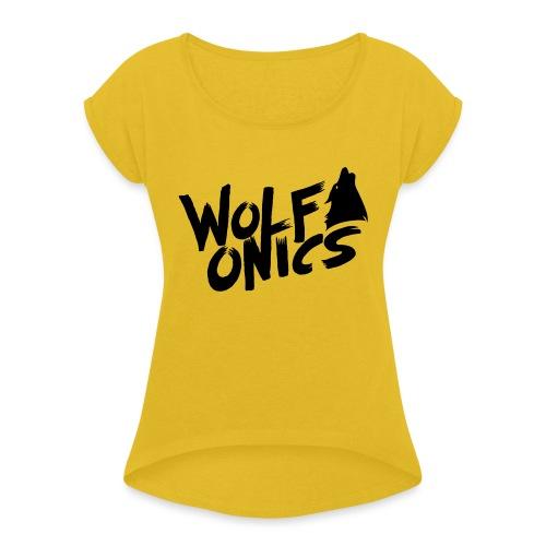Wolfonics - Frauen T-Shirt mit gerollten Ärmeln
