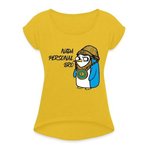 NADA PERSONAL - Camiseta con manga enrollada mujer