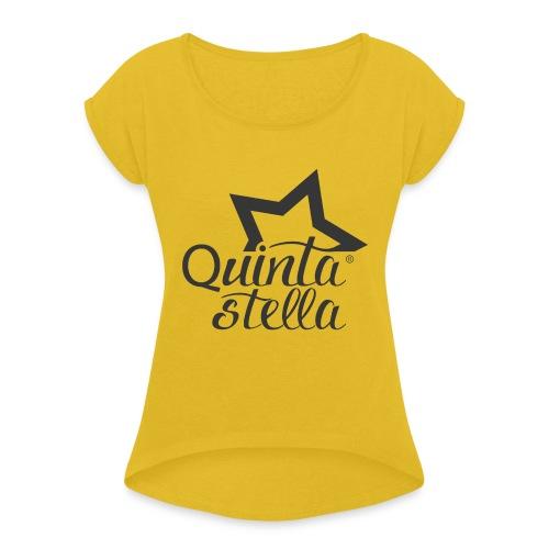 Quinta Stella - Maglietta da donna con risvolti