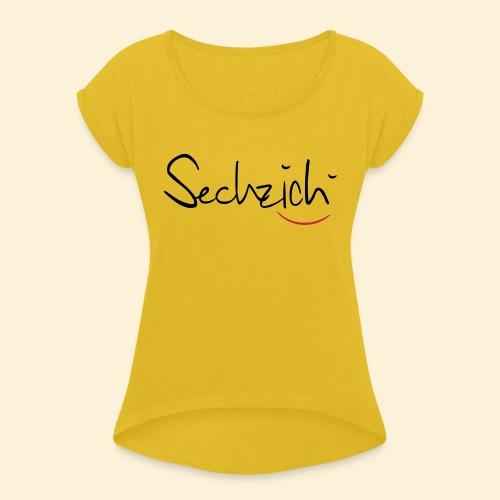 sechzich - Frauen T-Shirt mit gerollten Ärmeln
