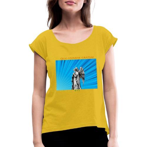 C16 - Camiseta con manga enrollada mujer