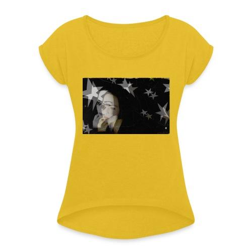Starsister Blacklong Shirt - Frauen T-Shirt mit gerollten Ärmeln