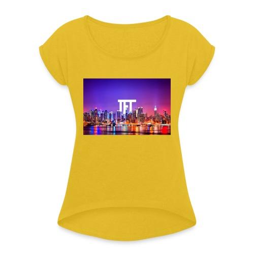 TheFlexTerms City Design - Vrouwen T-shirt met opgerolde mouwen