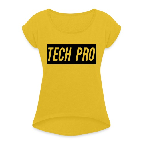 Tech Pro Official Logo - Women's T-Shirt with rolled up sleeves