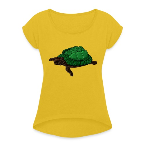 Tortoise - Women's T-Shirt with rolled up sleeves