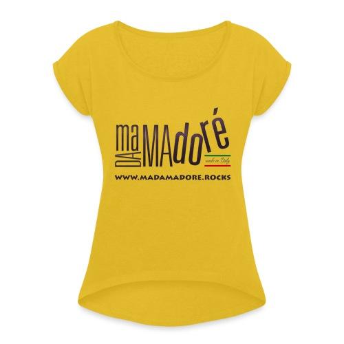 Sacca - Logo Standard + Sito - Maglietta da donna con risvolti