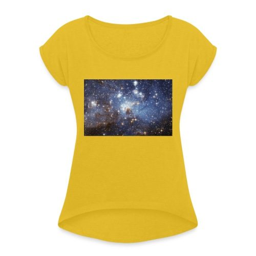 Starsinthesky - Women's T-Shirt with rolled up sleeves