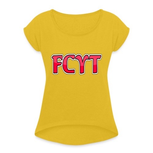 FungiCraftYT - Women's T-Shirt with rolled up sleeves