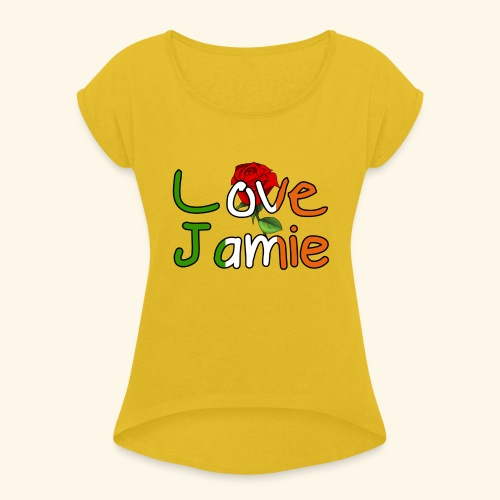 Jlove - Women's T-Shirt with rolled up sleeves